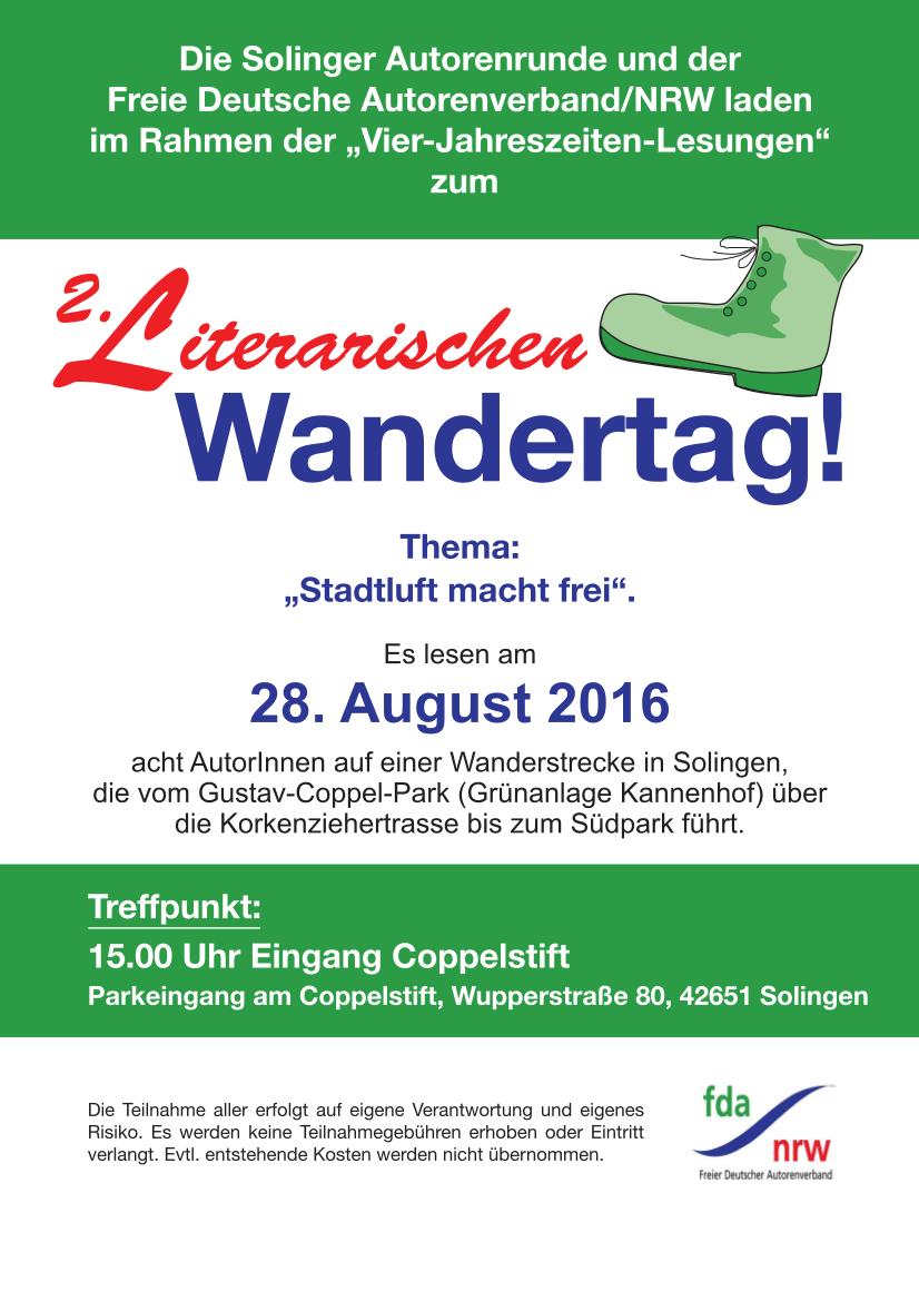 2  Literarischer Wandertag 2016 in Solingen